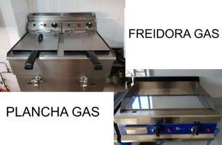 Freidora gas y plancha gas