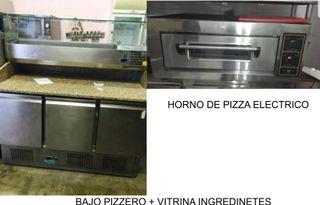 Bajo pizzero, horno de pizza