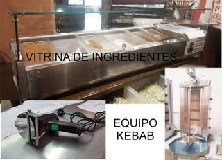 vitrina de ingredientes