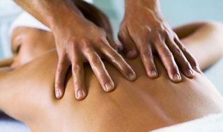 Masaje de espalda y cuello.