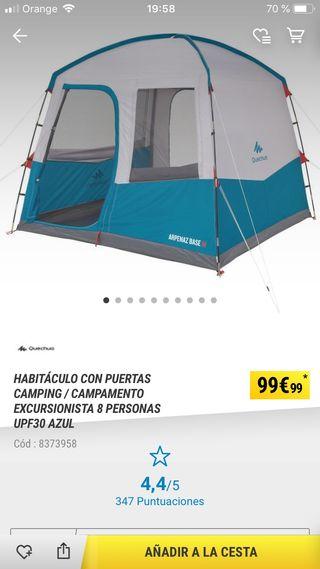 Caseta camping quechua