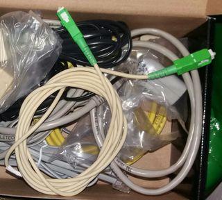 Cables fibra óptica y ADSL Ethernet gran calidad