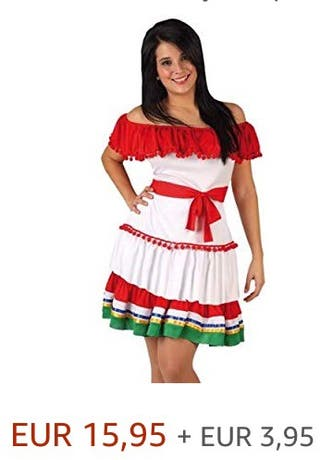 Disfraz mexicana talla S