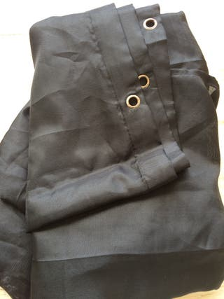 Cortina ducha de tela negra