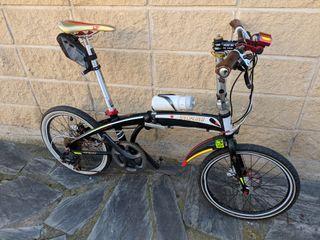 bicicleta plegable frenos hidráulicos
