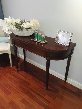 mesa libro madera noble