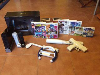 Wii edición limitada + 2 mandos +9 juegos