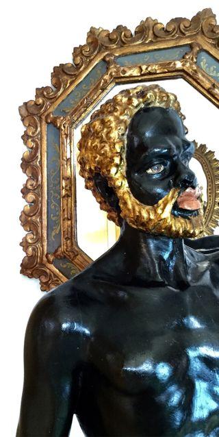 Blackamoor Lamp . Antorchero veneciano