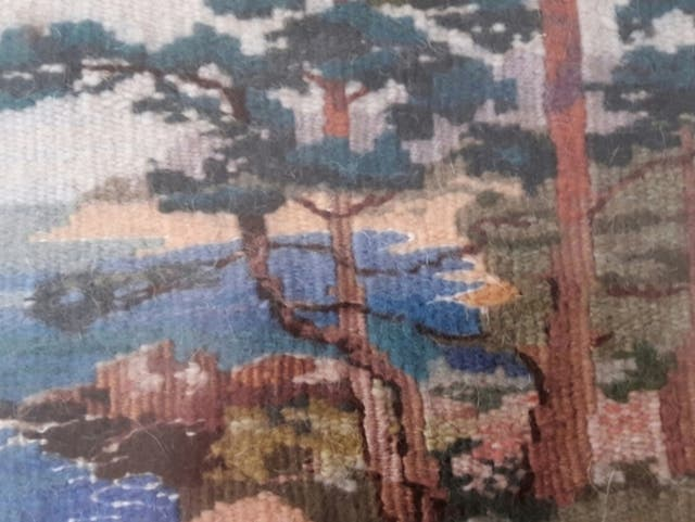 TAPÍZ (gobelino) miniatura-pieza única