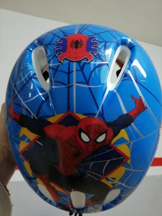 casco bici spiderman