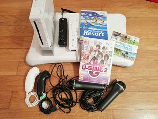 Consola Wii + Accesorios + Juegos