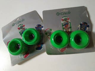Ruedas skateboard verdes old school Circle vintage