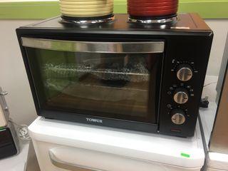 Mini horno con placa eléctrica para cocinar
