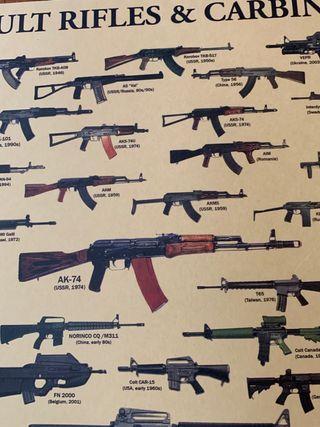 sacale los rifles