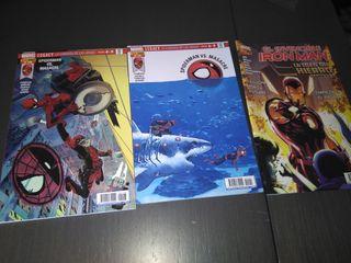 comics Spiderman vs Masacre y Iron Man
