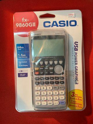 Calculadora gráfica Casio modelo fax-9860GII