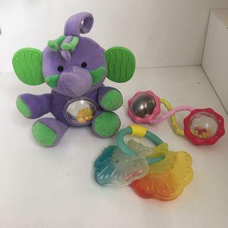 Lote 3 juguetes bebé