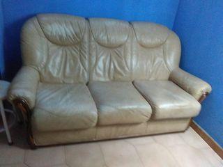 Oportunidad!!Sofa 3 plazas+Sillón de piel