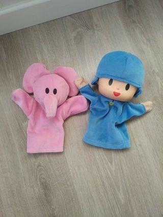 Marionetas de Ely y Pocoyo