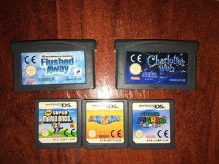 Videojuegos Nintendo DS.