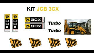 Pegatina jcb 3cx turbo combi