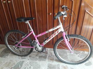 """Bicicleta BMX 20"""" de niña color Rosa 18 vel."""