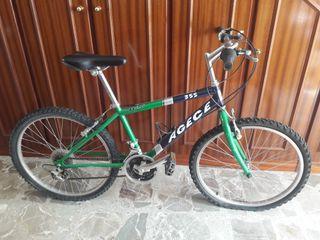 "Bicicleta BMX 20"" de niño color Verde 18 vel."