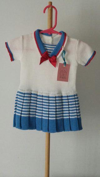 Vestido niña de punto