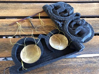 Antigua balanza de opio