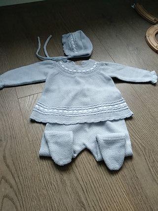 Conjunto bebé gris
