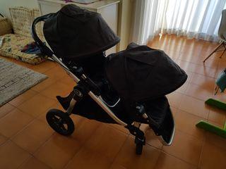 Carrito gemelar Baby Jogger City Select negro