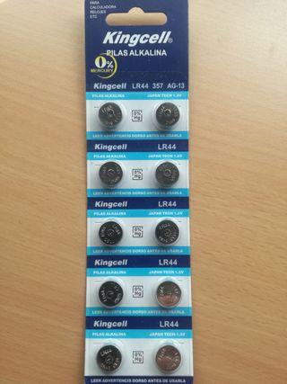 10 Pilas Alcalinas LR44 01/2023
