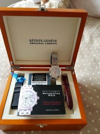 reloj automático Batiste Geneve oro blanco