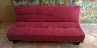 sofa cama rojo