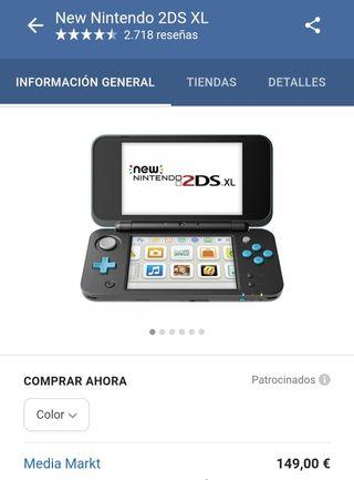 Ninte do New 2DSxl + 3 juegazos 150€