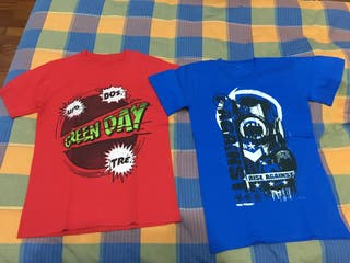 CAMISETAS GREEN DAY Y RISE AGAINST