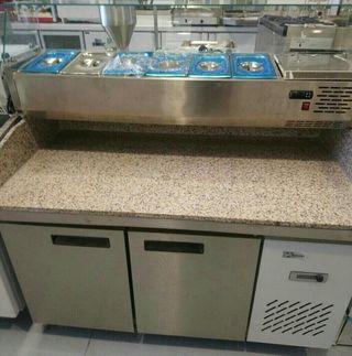 Mesas refrigeradas para preparacion de pizzas