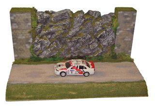 Scalextric diorama Rallye