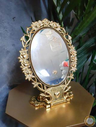 Espejo Barroco Tocador 28cm Alto Dorado