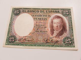 Billete 25 pesetas 1931