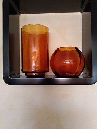 3 jarrones decoración