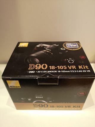 Nikon D90 nueva pack completo + REGALO
