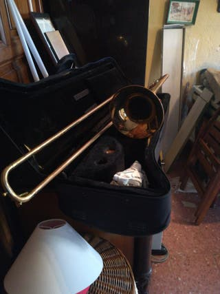 trombón antiguo, para principiantes o colecionista