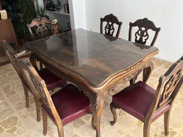 Mesa Comedor Vintage + 6 sillas de segunda mano por 250 € en Palma ...