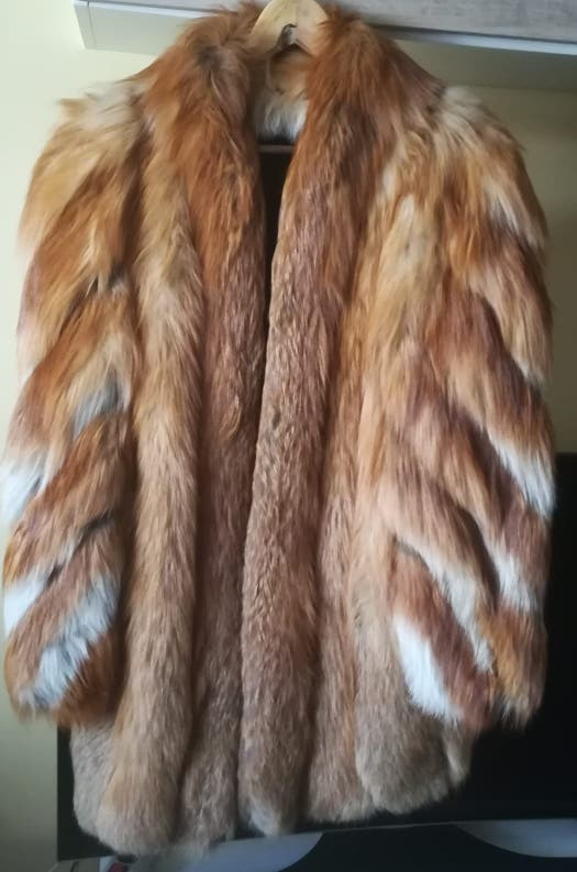 abrigo piel zorro blue