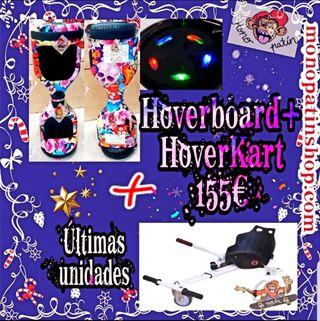 Oferta 50% Pack Hoverboard+Hover Kart