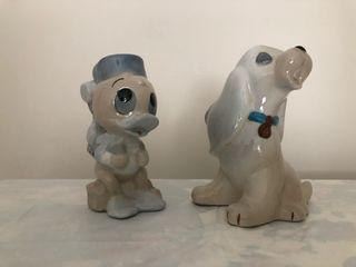 Perrito y patito porcelana de Disney