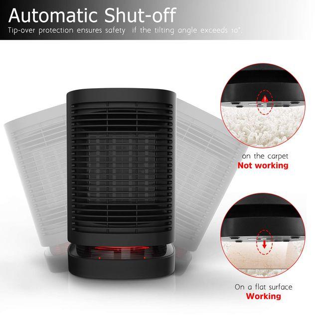 Calefactor portátil 950w