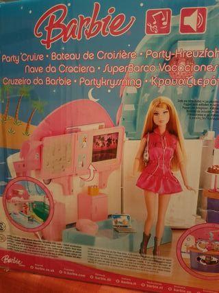Barbie superbarco de vacaciones.Con sonidos y luz.