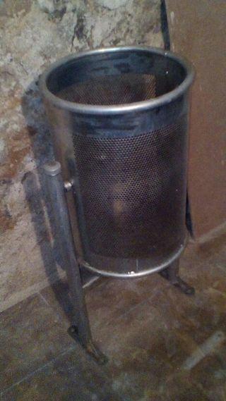 Papelera circular de acero para exteriores